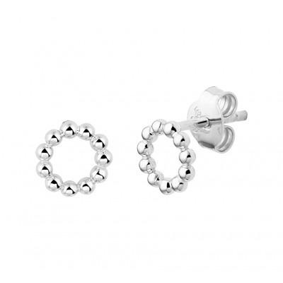 Zilveren oorknopjes met bolletjes