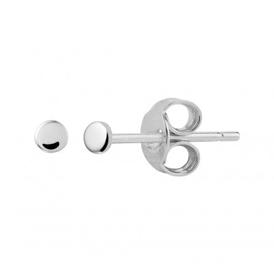 Zilveren oorknopjes met kleine rondjes