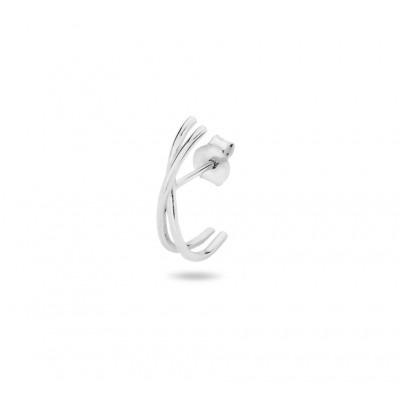 Zilveren oorsteker twee lijnen