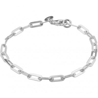 Zilveren schakelarmband dames 19 cm lang