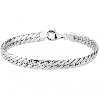 Zilveren schakelarmband dames 19 cm