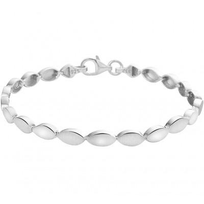 Zilveren schakelarmband met ovaal-vormige schakels