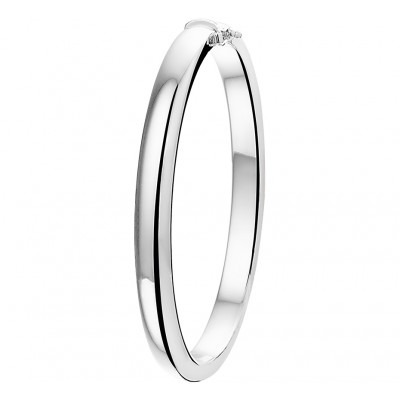 Zilveren scharnier bangle 6 mm