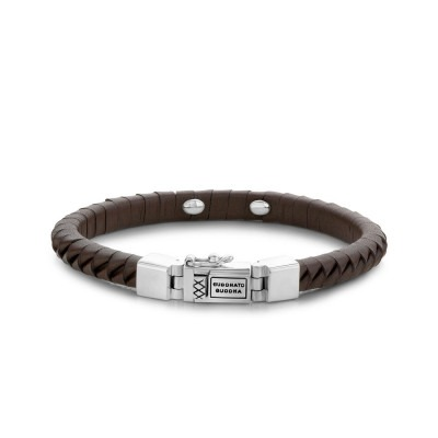 Buddha to Buddha 162BR Armband Komang Small Leather Brown