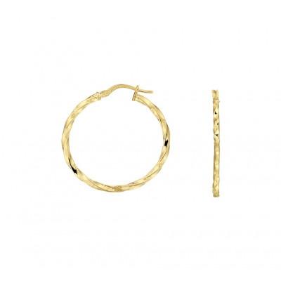 14-karaat gouden oorringen 29 mm