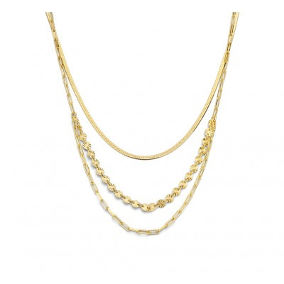 Gold plated 3 in 1 ketting 41 45 cm