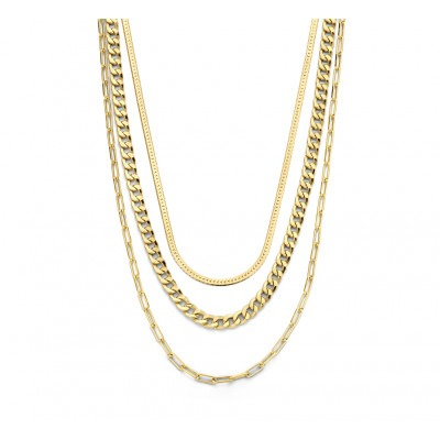 Gold plated 3 in 1 ketting