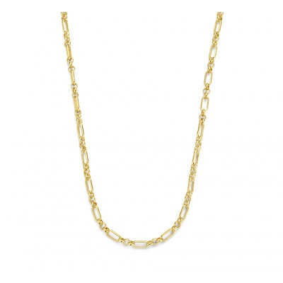 Gold plated ankerketting 3 mm