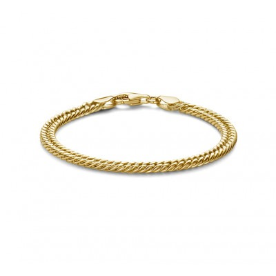 Gold plated armband gourmet 18 cm