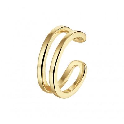Gold plated earcuff twee lijnen