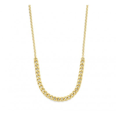 Gold plated gourmet ketting 4 mm