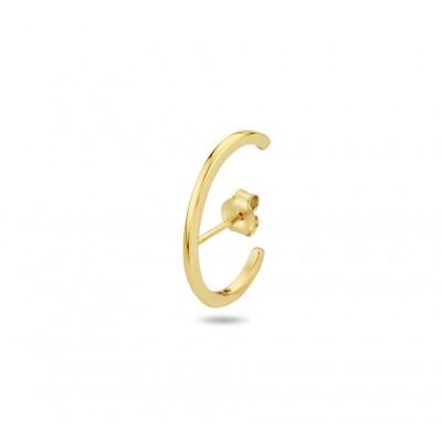 Gold plated oorsteker