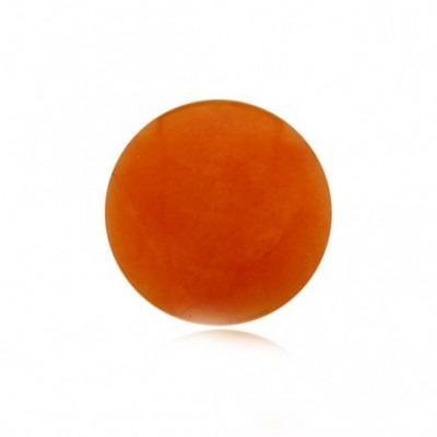 My iMenso dyed jade pale orange gemstone 33-1214