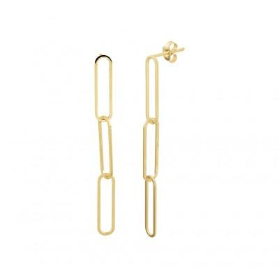 14-karaat gouden oorhangers in schakelvorm