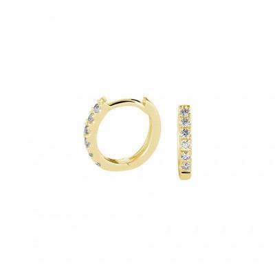 14-karaat gouden oorringen met diamant