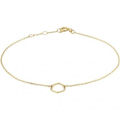 Armband goud dames zeshoek
