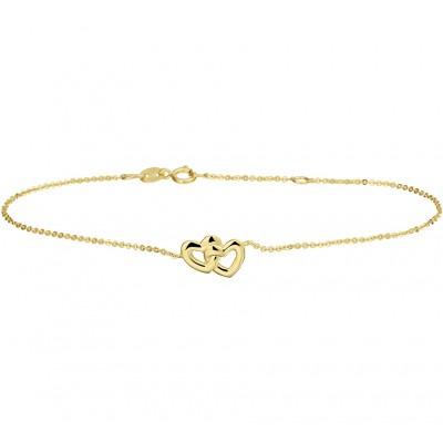 Armband goud met hartjes