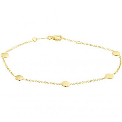 Armband goud met rondjes