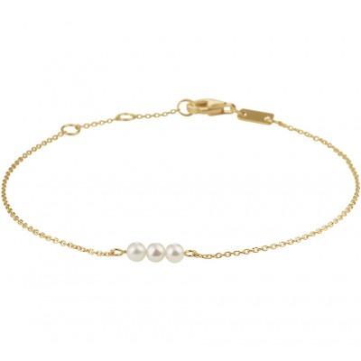 Armband met drie parels