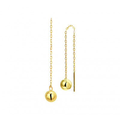 Doortrekoorbellen goud bolletjes