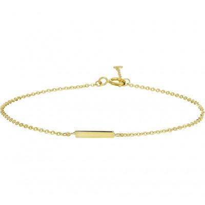 Dun gouden armbandje balkje