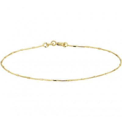 Dunne gouden armband met balkjes