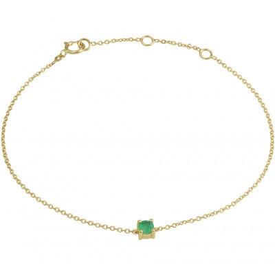 Edelsteen armband met smaragd