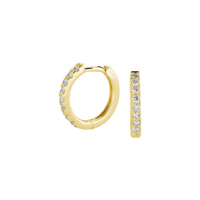 Edelsteen oorbellen met diamant 11 mm