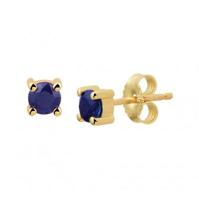 Edelsteen oorbellen met saffier gemaakt van 14 krt goud