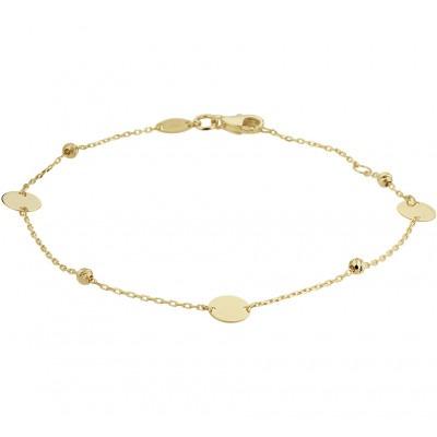 Fijn gouden armbandje met rondjes