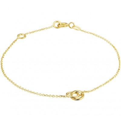 Fijn gouden armbandje met twee rondjes