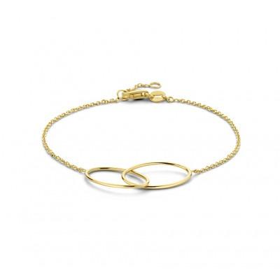 Geelgouden armband ovalen