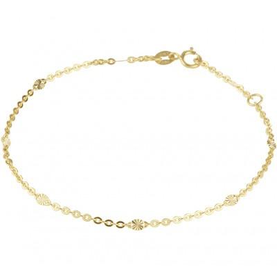 Gouden armband 16 cm-18 cm