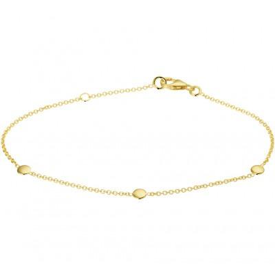 Gouden armband met drie rondjes