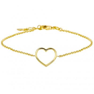 Gouden armband met open hart