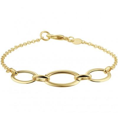 Gouden armband met ovaaltjes