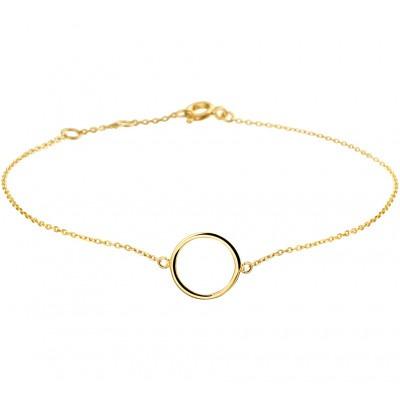 Gouden armband met rondje