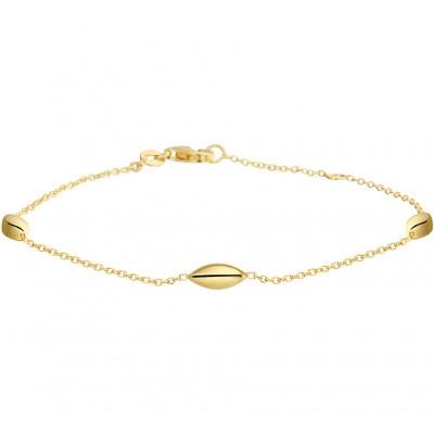 Gouden armband met tussenschakels