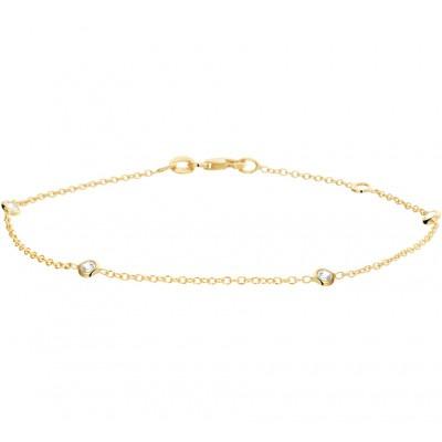 Gouden armband met zirkonias