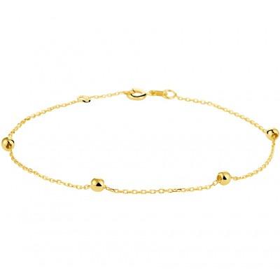 Gouden armbandje met bolletjes