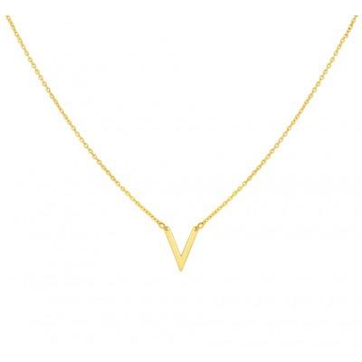 Gouden collier met v-vorm