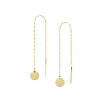 Gouden doortrekoorbellen rondjes