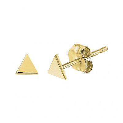 Gouden driehoek oorbellen