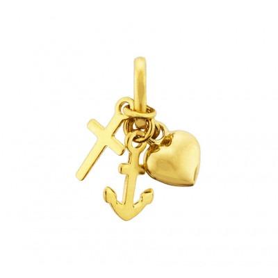 Gouden hanger geloof hoop liefde