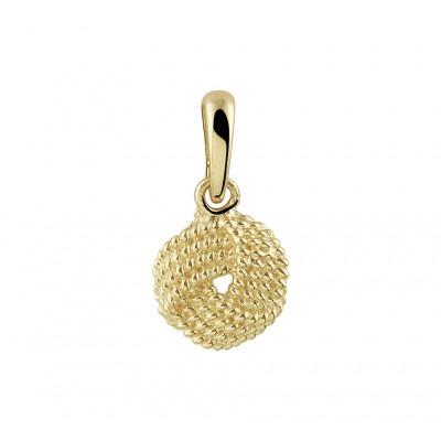 Gouden hanger knoop