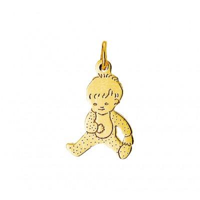 Gouden hanger met baby