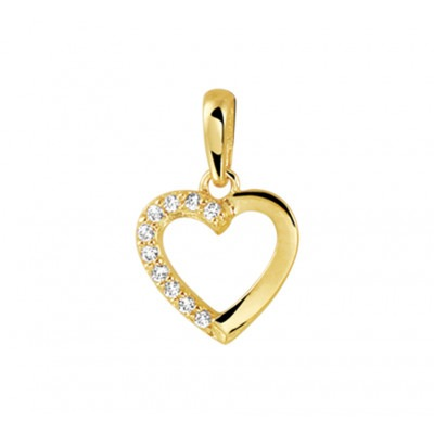 Gouden hart glad en zirkonia