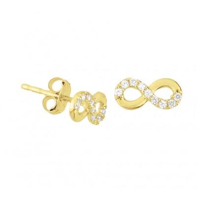 Gouden infinity oorbellen