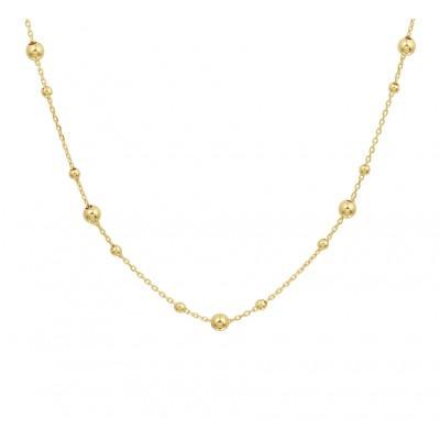 Gouden ketting met bolletjes 41 45 cm