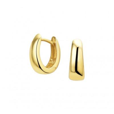 Gouden klapcreolen 12 mm